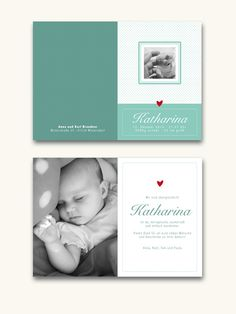 Baby- & Geburtskarten - Karte zur Geburt oder Taufe 04 - ein Designerstück von Liebesdienst bei DaWanda