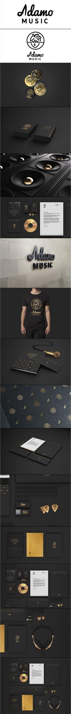 Adamo Music | Full black and gold brand identity design
