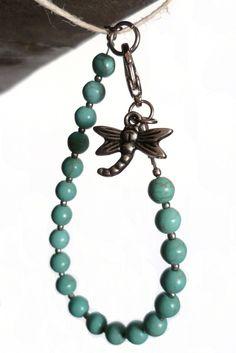 #ArtPassionBijoux by Sara, #italian #handmade #jewelry -- Turquoise glass #Bracelet
