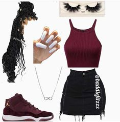 Swag Outfits For Girls, Cute Swag Outfits, Teenage Girl Outfits, Teen Fashion Outfits, Dope Outfits, Simple Outfits, Pretty Outfits, Stylish Outfits, Summer Outfits