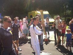 olympic torch relay south london inspirational torch bearer David Ramsey