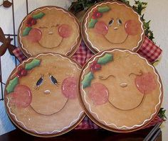 Christmas Gingerbread Stove Covers Painting by Paintingonjars Gingerbread Man Crafts, Gingerbread Decorations, Gingerbread Ornaments, Christmas Gingerbread, Christmas Decorations, Christmas Ornaments, Gingerbread Houses, Christmas Projects, Holiday Crafts