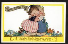 "MABEL LUCIE ATTWELL ""Birthday Greetings"" vintage postcard uk.picclick.com"