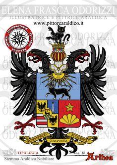 Italian Coat of Arms - Heraldry - Stemma Araldico Nobiliare - Heraldic Artists and Illustrator Arthea (Elena Frasca Odorizzi)