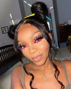 Makeup Goals, Beauty Makeup, Hair Makeup, Hair Beauty, Black Girl Makeup, Girls Makeup, Dark Skin Makeup, Natural Makeup, Baddie Hairstyles