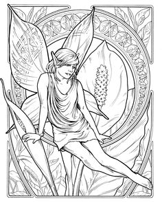 Fairy Coloring Pages, Animal Coloring Pages, Coloring Pages To Print, Printable Coloring Pages, Coloring Books, Dora Coloring, Dragons, Free Adult Coloring, Alphonse Mucha
