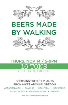 Beers Made By Walking - foraging and infusing beers with local flavours