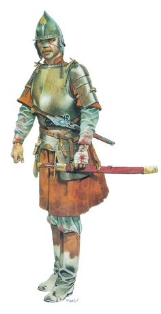 Croatian soldier, Battle of Szigeth Medieval Armor, Medieval Fantasy, Military Art, Military History, Soldado Universal, Thirty Years' War, Early Modern Period, Seven Years' War, Renaissance Era