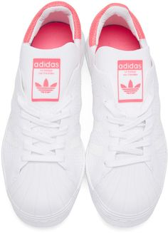 finest selection 2e8fe 25389 adidas Originals - White   Pink Superstar 80 s PK Sneakers
