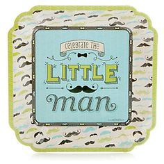 Dashing Little Man Mustache Party - Baby Shower Dinner Plates - 8 ct