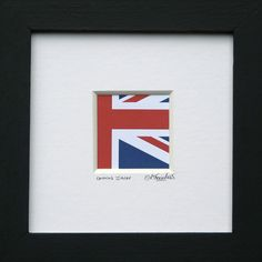 Union Jack - framed print of the UK Flag by simonsgallery on Folksy £25.00