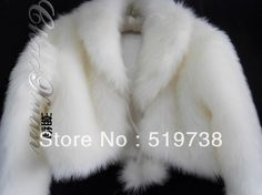 Free shipping ivory wedding cape bridal shawl party cape faxu fur ivory long sleeve jacket on AliExpress.com. 5% off $21.22