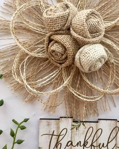 Large Burlap Flower – Wedding Cake Topper – Rustic Wedding – Country Wedding – Farmhouse – Barn Wedding – Decor – Outdoor Wedding – Home – The Best Ideas Rustic Wedding Cake Toppers, Barn Wedding Decorations, Floral Wedding Cakes, Wedding Cakes With Flowers, Wedding Cupcakes, Burlap Flowers Wedding, Twine Flowers, Fabric Flowers, Burlap Crafts
