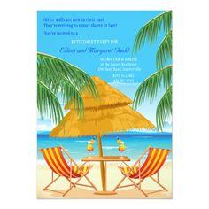 Shop Paradise Found Retirement Party Invitation created by PixiePrints. Retirement Party Invitations, Retirement Parties, Custom Invitations, Retirement Pictures, Retirement Quotes, Retirement Ideas, Early Retirement, Retirement Countdown, Invitations