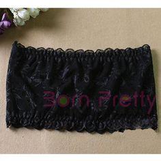 $ 3,86 White & Black Lace Lingerie TUBE TOP Strapless Bra Seamless Bandeau - BornPrettyStore.com