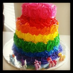 Looks like Norah is having a My Little Pony party because I REALLY want to make this cake!!!