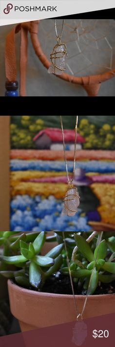 Wire Wrapped Quartz Pendant This natural raw gemstone was originally harvested in the Saguaro cactus deserts of Arizona. I then polished it, while leaving it in its natural shape, and wire wrapped it with gold plated copper wire. It is all natural and exhibits all of the healing powers of quartz, while also looking tasteful and high quality. If you have an questions feel free to ask!   Pendant Only  **On all my handmade items, I donate 15% off all profits to the AWF (African Wildlife…