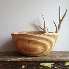 Alaskan Yúpik Tribal Coiled Basket. Thnx