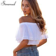 summer 2017 bohemian white crop top for women off shoulder lace splice t shirt camisetas y tops cuello slash women clothing sale aliexpress.com