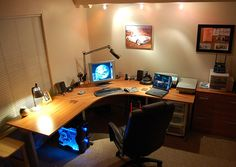 Computer Desk - Lots of flat space! Just what I'm looking for to satisfy my computer needs.