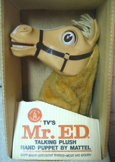 I loved Mr Ed - My brother, sister and I each had our own talking Mister Ed Hand Puppets.
