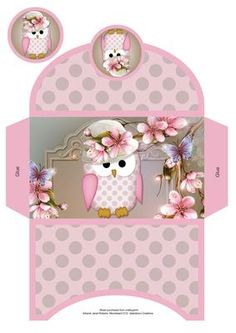 Hoot Hoot Hurray Money Wallet on Craftsuprint designed by Janet Roberts - This money wallet goes with my 'Hoot Hoot Hurray' mini kit ....... please see the link below - Now available for download!