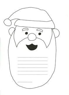 Letter to Santa printable Preschool Christmas, Christmas Activities, Christmas Printables, Christmas Traditions, Santa Letter Template, Santa Letter Printable, Letter To Santa, Santa Crafts, Holiday Crafts