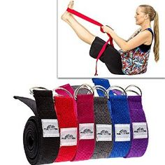 Thick Yoga Strap / Yoga Belt with Steel D Ring long). Perfect for stretching and all types of yoga including Pregnancy Yoga, Hot Yoga, Bikram Yoga, Restorative Yoga, Hatha Yoga and many more. Made with Durable Cotton. Comes with a Lifetime Warra Yoga Caliente, Difficult Yoga Poses, Different Types Of Yoga, Yoga Strap, Bikram Yoga, Restorative Yoga, Spiritual Wellness, Yoga For Weight Loss, Yoga Benefits