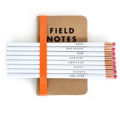 Set of 3 Field Notebooks & 8 G&G Pencils #GardenandGun
