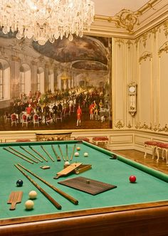 Emperor Franz Joseph's game room at the Hofburg Palace..