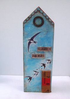 Free as a bird mixed media house £24.00