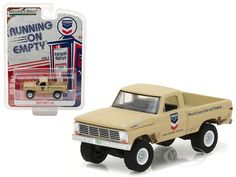 """1968 Ford F 100 Pickup Truck Standard Oil \Running on Empty\"""" Series 3 Diecast Model Car by Greenlight"""" Ford Trucks, Pickup Trucks, Standard Oil, Farm Toys, Rubber Tires, Diecast Model Cars, Christmas Pillow, Series 3, Decorating Tips"""