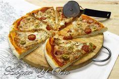 Hogar y Ocio: Pizza de atún con  tomates cherry