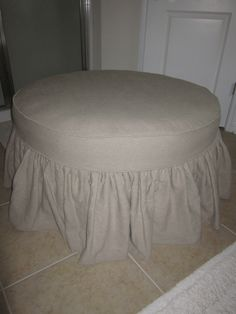 target round slip beautiful wonderful cover sew for how to no slipcover ottoman a make
