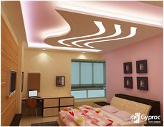 Artistic bedroom ceiling designs that redefine the beauty of your house! To know more: www.gyproc.in/