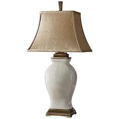 Uttermost Pavia Aged Red Woven Texture Table Lamp - #N4461   Lamps Plus