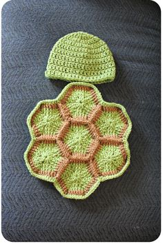 Crochet Newborn Turtle Photography Prop