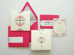 Mexican Tile inspired Wedding invitations