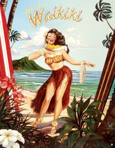Love the vintage Hawaii style- will have to find local shops carrying cute souvenirs to take home!