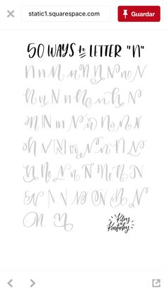 Ways to write N