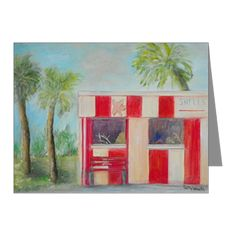 Toms Old Florida Gift Shop Note Cards