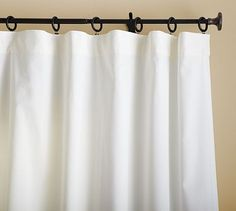 I think i like this style/rod. It will mke easy to open them up. Thoughts?   Cameron Cotton Drape #potterybarn