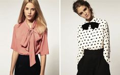love these bow blouses... and love the hearts!