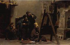Ράλλης Θεόδωρος – Rallis Theodoros icon painting on Athos mt. Greek Paintings, Oil Paintings, Greek Art, 10 Picture, Artist At Work, Impressionist, Christianity, Modern Art, The Past