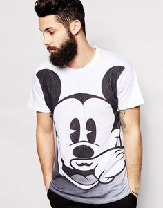 Image 1 of Eleven Paris T-Shirt with Oversized Mickey Mouse Print