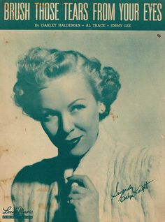 EVELYN KNIGHT - BRUSH THOSE TEARS FROM YOUR EYES - 1948 - ORIG. USA MUSIKNOTE