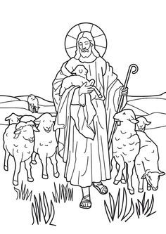Jesus The Good Shepherd Coloring Pages
