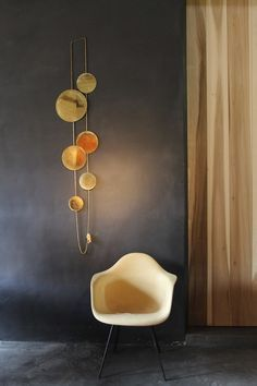 Jewel mirrors for walls,  'O' Mirror, Brass discs by Laloul