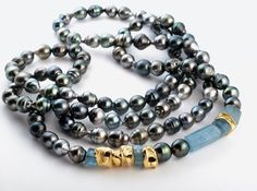 Thierry Vendome Live: A string of 56 centimeters Tahitian pearls ...