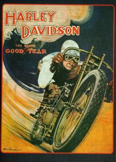 Vintage Harley Davidson Motorcycle Poster V Twin Bike Goodyear Tires Ad Poster Poster 1918 World War 1 8 x 11 Vintage Harley Davidson, Harley Davidson Kunst, Harley Davidson Posters, Motos Harley Davidson, Bike Poster, Motorcycle Posters, Poster Ads, Motorcycle Art, Classic Motorcycle